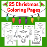 Christmas Coloring Pages (25 Sheets) - Fun creative activity for the holidays!