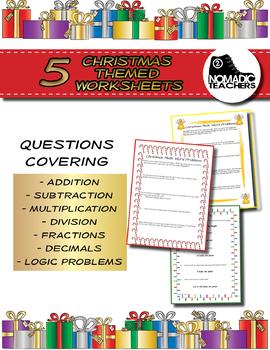 25 Christmas Math Word Problems