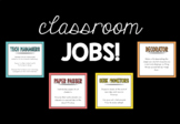 25 Classroom Jobs with Job Descriptions AND 'You've Been H