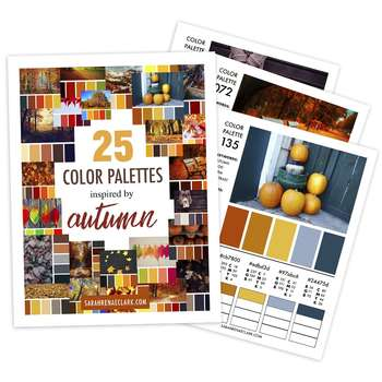 25 Color Palettes Inspired by Autumn