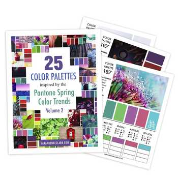 25 Color Palettes inspired by the Pantone Spring Color Trends (Volume 2)