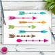 25 Colorful Arrows Clipart, Tribal Arrow Clip Art, Boho Arrows Graphics, PNGs