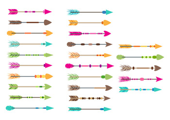 25 Colorful Arrows Clipart, Tribal Arrow Clip Art, Boho Arrows Graphics, PNGs