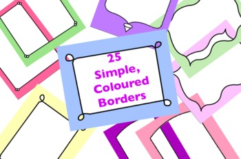 25 Coloured Borders