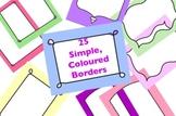 25 Coloured Borders
