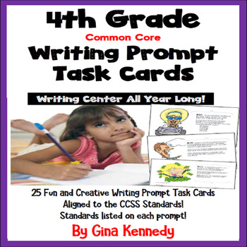 25 Common Core 4th Grade Writing Prompt Task Cards
