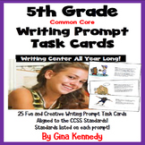 5th Grade Writing Prompt Task Cards, Standards Included, Great Writing Center!