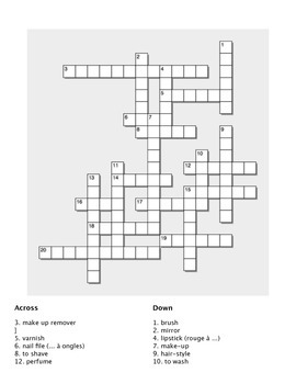 25 Crossword Puzzles: Themes for Intermediate Learners of French