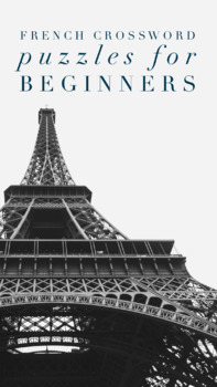 25 Crossword Puzzles for Beginners of French