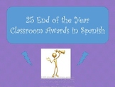 25 Unique End of the Year Awards in Spanish.  Reward your