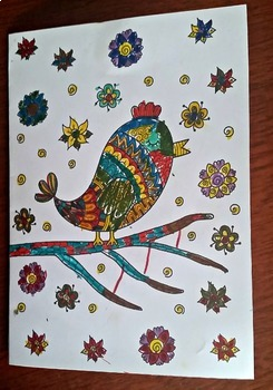 25 DIY Nature Coloring Cards