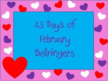 25 Days February Bellringers