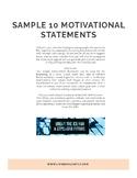 10 Days of Bell Ringer Motivational Statements