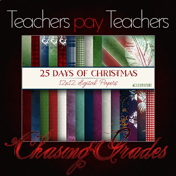 25 Days of Christmas - Digital Paper Pack