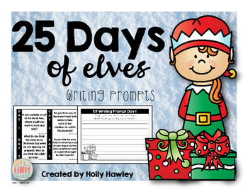 25 Days of Elves-a Christmas writing activity