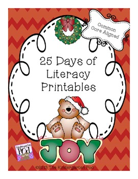 25 Days of Literacy Printables