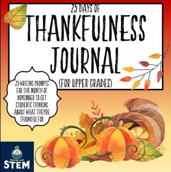 Thanksgiving Journal- 25 Days of Thankfulness