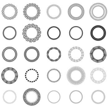 25 Decorative Circles, Vector Art (Package 1)