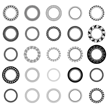 25 Decorative Circles, Vector Art (Package 2)