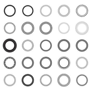 25 Decorative Circles, Vector Art (Package 3)