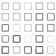 25 Decorative Squares, Vector Art (Package 1)