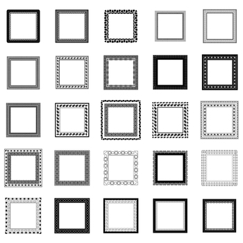 25 Decorative Squares, Vector Art (Package 4)