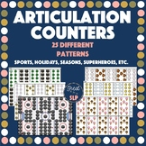 25 Articulation Counters for Speech Therapy!