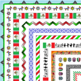41 Different Mexico Themed Page Borders, Dividers, & Frames for your Documents