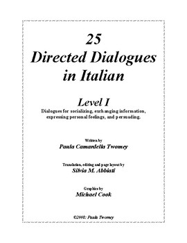 25 Directed Dialogues in Italian