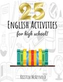 25 English Activities for High School