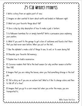 6th grade essay prompts