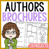 FAMOUS AUTHORS Brochure Projects Activity, Set of 25, Graphic Organizers