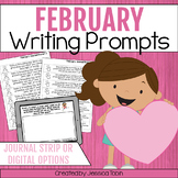 February Writing Prompts, February Writing Journals