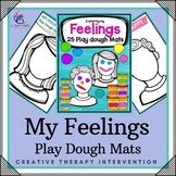 25 Feelings Preschool Play Dough Mats - Emotions Play Doh Activities Worksheets