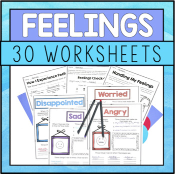 Emotions Worksheets Teaching Resources Teachers Pay Teachers