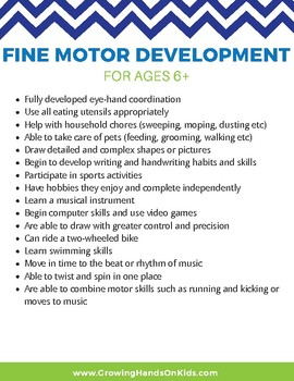 25 Fine Motor and Development Skills for Older Kids