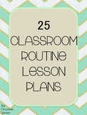 25 First Week of School Procedure Lesson Plans