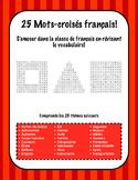 25 French Word Search Puzzles - 25 Mots cachés Français!