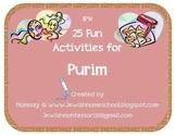 25 Fun Activities for Purim