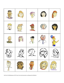25 Fun Faces, People Clip Art For TPT Lessons