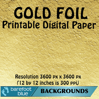 25 Gold Foil Digital Papers, High Resolution Printable Backgrounds