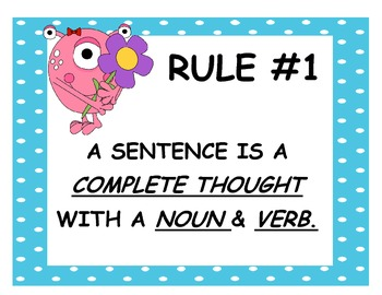 25 grammar rules monster theme by molly hernandez tpt