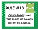 25 Grammar Rules - Frog Theme