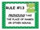 25 Grammar Rules - Frog Theme