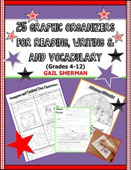 25 Graphic Organizers for Reading, Writing, and Vocabulary
