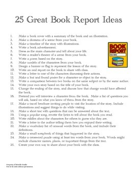 25 Great Book Report Ideas
