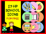 25 HD School Icons FOR FREE