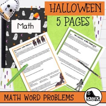 25 Halloween Math Word Problems