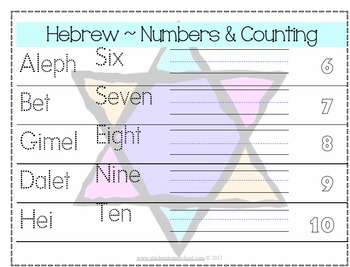 25 Hanukah English/Hebrew Writing and Tracing Worksheets