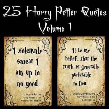 40 Harry Potter Quotes By The Board Room Teachers Pay Teachers Enchanting Harry Potter Quotes
